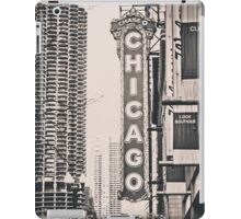 Theatre Sign in Chicago Black and White iPad Case/Skin