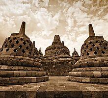Borobudur Temple - Yogyakarta, Indonesia by Stephen Permezel