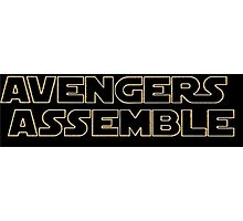 Avengers Assemble - Star Wars Font Photographic Print