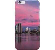 Amazing Pink Sunset over Surfers Paradise iPhone Case/Skin
