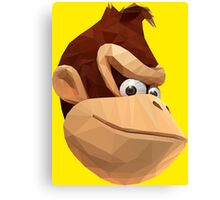 Donkey Kong - Triangulation Vector Canvas Print