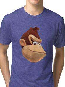 Donkey Kong - Triangulation Vector Tri-blend T-Shirt