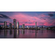 Amazing Pink Sunset over Surfers Paradise Photographic Print