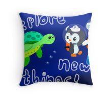 Explore, Rescue, Protect! Throw Pillow