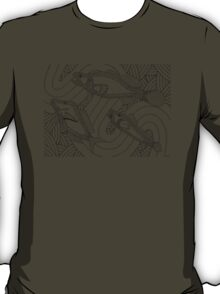 Aarli - school of fish / Back in black T-Shirt
