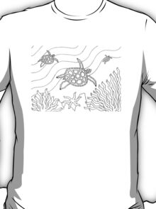 Goorlil - turtle / Back in black T-Shirt
