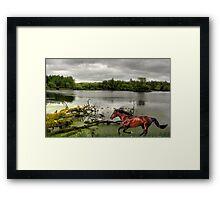 1182-Riverside Trot Framed Print