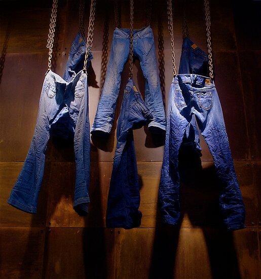 Jeans at work by Etienne RUGGERI Artwork eRAW