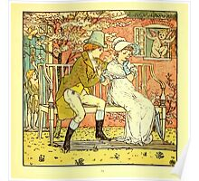 The Baby's Boquet - A Fresh Bunch of Old Rhymes and Tunes - by Walter Crane - 1900-27 Little Man and Maid Plate Poster