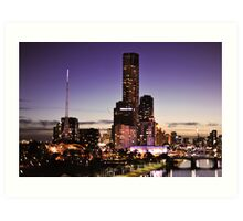 Melbourne Night Sky Art Print