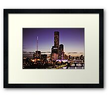 Melbourne Night Sky Framed Print