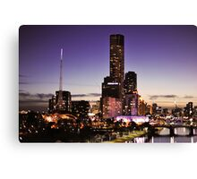 Melbourne Night Sky Canvas Print