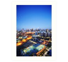 Melbourne Night Scape Art Print