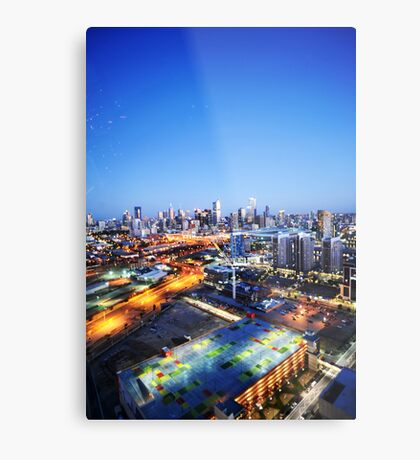 Melbourne Night Scape Metal Print
