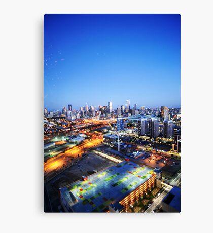 Melbourne Night Scape Canvas Print
