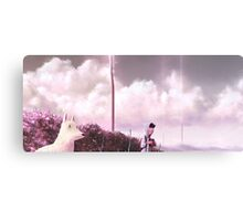 Boy and Dog Canvas Print
