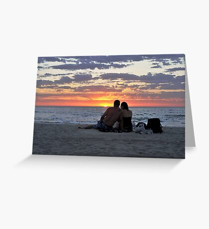 Romantic Couple At The Beach Greeting Card