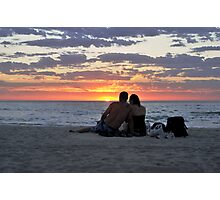 Romantic Couple At The Beach Photographic Print