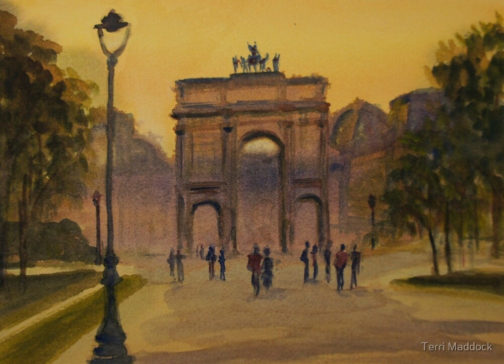 Early morning, The Louvre, Paris by Terri Maddock