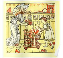 The Baby's Boquet - A Fresh Bunch of Old Rhymes and Tunes - by Walter Crane - 1900-8 A Ride in a Cart Poster