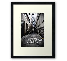 24 Hour Access Framed Print