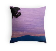 banket of clouds over lake Throw Pillow