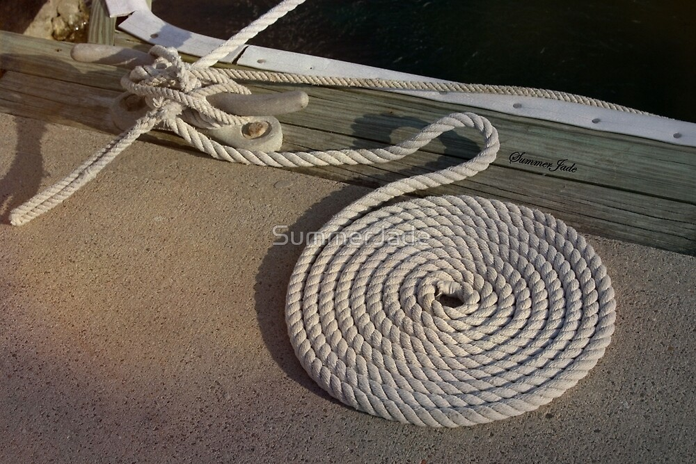 Neatness Counts! ~ Rope on the Pier by SummerJade