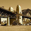 Sydney Harbour Bridge, Australia (SEPIA) by Jonathan Jones