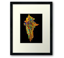 Coloured Blocks Framed Print