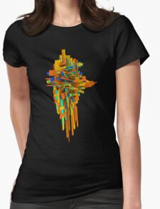 Coloured Blocks Womens Fitted T-Shirt