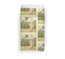 The Baby's Opera - A Book of Old Rhymes With New Dresses - by Walter Crane - 1900-19 My Lady's Garden Plate Duvet Cover