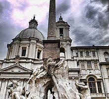 La Fontana dei quattro fiumi, Roma by Andrea Rapisarda