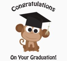 Congratulations on your Graduation Monkey One Piece - Short Sleeve