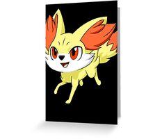 Pokemon Fennekin Greeting Card