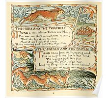 The Baby's Own Aesop by Walter Crane 1908-52 The Hare and the Tortoise, The Hares and the Frogs Poster