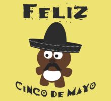 Cinco De Mayo Bear Kids Tee