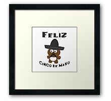 Cinco De Mayo Bear Framed Print