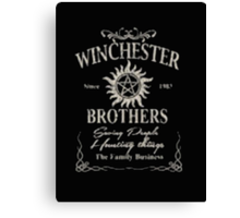 Winchester Since 1983 Brothers Saving People Hunting Things The Family Business - T-shirts & Hoodies   Canvas Print