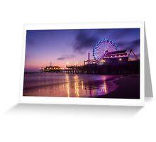 Santa Monica pier at Sunset Greeting Card