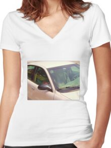 Seat Hearts Women's Fitted V-Neck T-Shirt