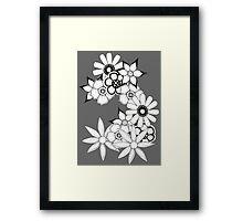 Ink flower patter  Framed Print