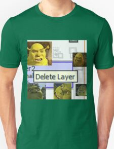 Delete Layer Unisex T-Shirt