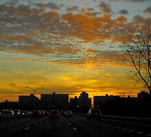 Driving at Dusk by Paul Gitto