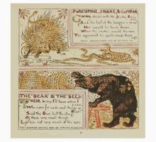 The Baby's Own Aesop by Walter Crane 1908-53 Porcupine Snake and Company, The Bear and the Bees One Piece - Short Sleeve