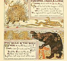 The Baby's Own Aesop by Walter Crane 1908-53 Porcupine Snake and Company, The Bear and the Bees by wetdryvac