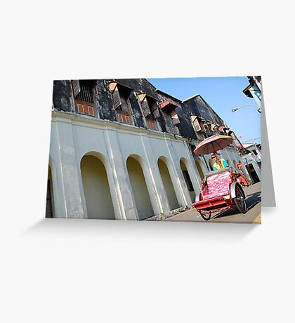 Iconic trishaw, George Town, Penang Greeting Card