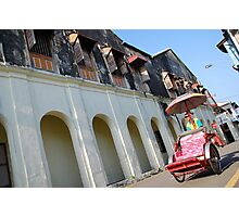 Iconic trishaw, George Town, Penang Photographic Print