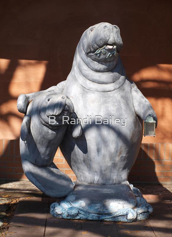 Manatee mom and baby statue by ♥⊱ B. Randi Bailey