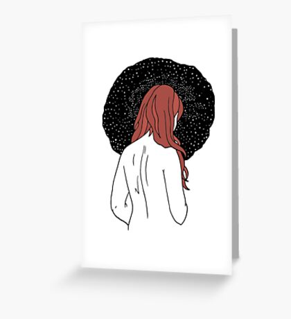 Sulking with Lisa Loeb on the Ice Planet Hoth (red) Greeting Card