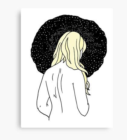 Sulking with Lisa Loeb on the Ice Planet Hoth (Blonde) Canvas Print
